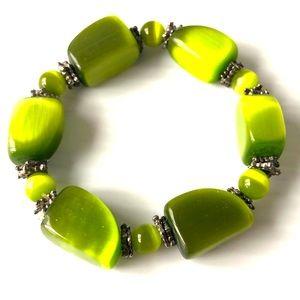 Green chunky bead 🌸